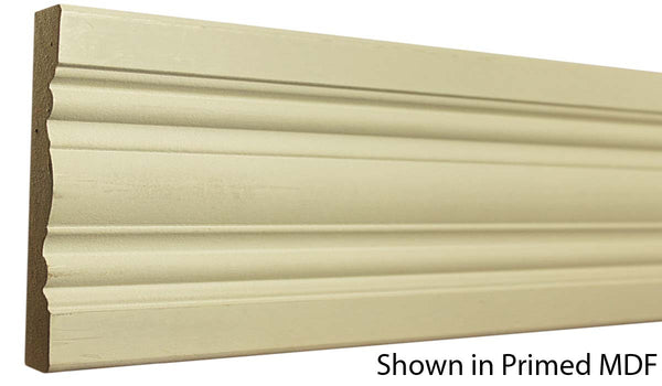 "Profile view of a flexible MDF Chair Rail molding, product number PMCA410 3/4""x4-7/8"" $2.68/ft. sold by American Wood Moldings"