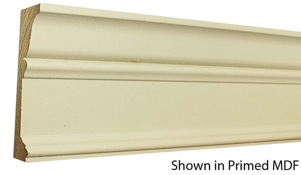 "Profile view of a MDF Casing molding, product number PMCA610 1-3/16""x6-1/4"" $5.90/ft. sold by American Wood Moldings"