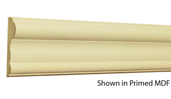 "Profile view of a MDF Chair Rail molding, product number PMCH210 5/8""x2-1/2"" $1.12/ft. sold by American Wood Moldings"