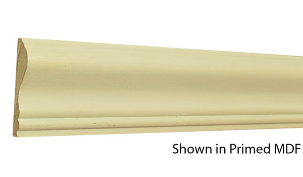 "Profile view of a MDF Chair Rail molding, product number PMCH220 5/8""x2-5/8"" $0.68/ft. sold by American Wood Moldings"