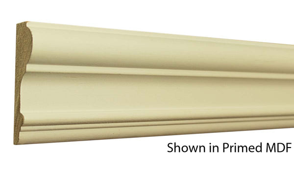 "Profile view of a MDF Chair Rail molding, product number PMCH320 1""x3-3/16"" $1.98/ft. sold by American Wood Moldings"