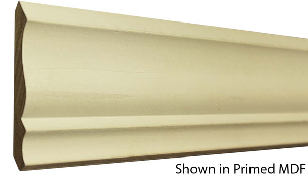 "Profile view of a MDF Crown molding, product number PMCR320 5/8""x3-5/8"" $0.76/ft. sold by American Wood Moldings"