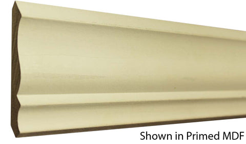 "Profile View of Crown Molding, product number CR-320-020-1-PM - 5/8"" x 3-5/8"" Primed MDF Crown - $0.79/ft sold by American Wood Moldings"