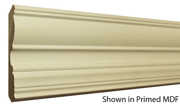 "Profile view of a MDF Crown molding, product number PMCR420 5/8""x4-1/2"" $1.08/ft. sold by American Wood Moldings"