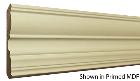 "Profile View of Crown Molding, product number CR-416-020-1-PM - 5/8"" x 4-1/2"" Primed MDF Crown - $1.12/ft sold by American Wood Moldings"