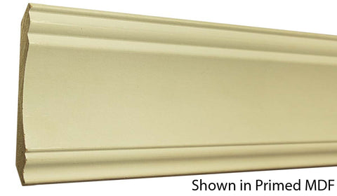 "Profile view of a MDF Crown molding, product number PMCR430 5/8""x4-1/2"" $1.24/ft. sold by American Wood Moldings"