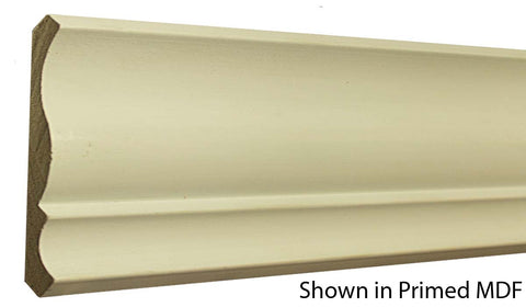 "Profile View of Crown Molding, product number CR-508-020-1-PM - 5/8"" x 5-1/4"" Primed MDF Crown - $1.16/ft sold by American Wood Moldings"
