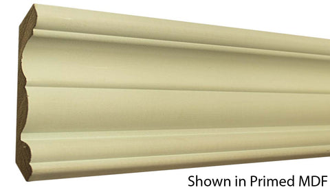 "Profile View of Crown Molding, product number CR-508-028-1-PM - 7/8"" x 5-1/4"" Primed MDF Crown - $1.44/ft sold by American Wood Moldings"
