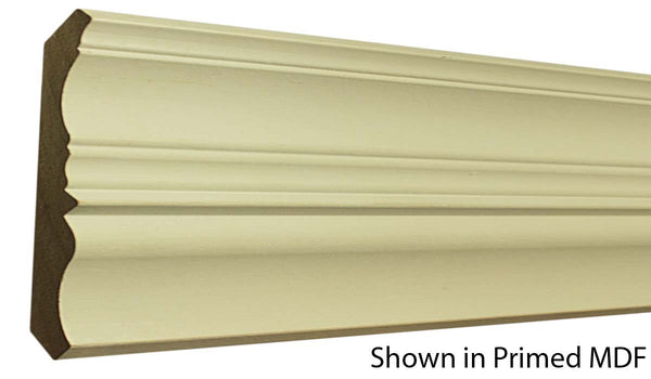 "Profile view of a MDF Crown molding, product number PMCR530 3/4""x5-15/16"" $1.86/ft. sold by American Wood Moldings"