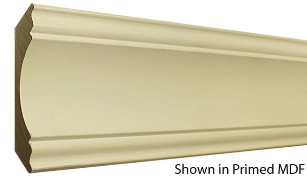 "Profile View of Crown Molding, product number CR-610-106-1-PM - 1-3/16"" x 6-5/16"" Primed MDF Crown - $2.66/ft sold by American Wood Moldings"