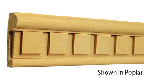 "Profile View of Decorative Carved Molding, product number DC-204-028-1-PO - 7/8"" x 2-1/8"" Poplar Decorative Carved Molding - $6.72/ft sold by American Wood Moldings"