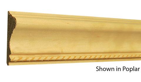 "Profile View of Decorative Embossed Molding, product number DE-220-024-1-PO - 3/4"" x 2-5/8"" Poplar Decorative Embossed Molding - $4.84/ft sold by American Wood Moldings"