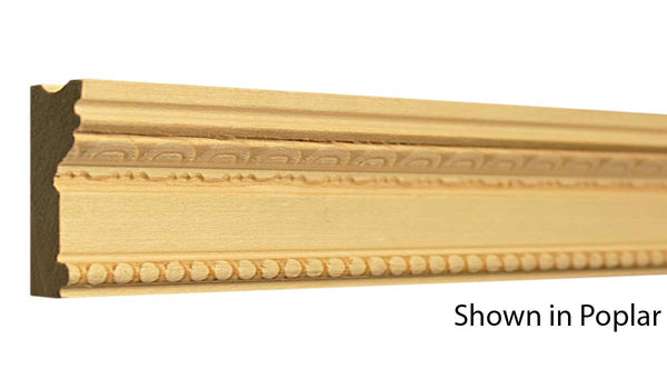"Profile view of a decorative poplar embossed molding, product number PODE255 13/16""x1-13/16"" Poplar $3.36/ft. sold by American Wood Moldings"
