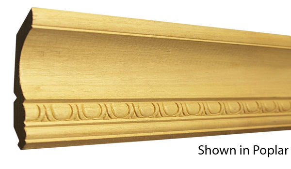 "Profile View of Decorative Embossed Molding, product number DE-408-028-1-PO - 7/8"" x 4-1/4"" Poplar Decorative Embossed Molding - $7.84/ft sold by American Wood Moldings"