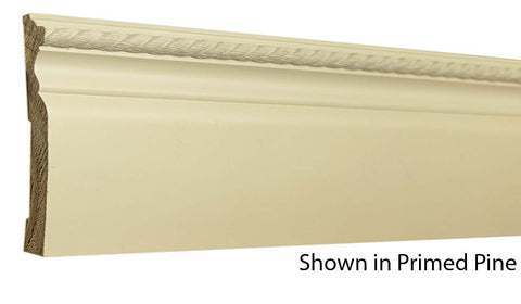 "Profile view of a decorative primed pine molding, product number PPDC105 1/2""x4-7/16"" Primed Pine $10.52/ft. sold by American Wood Moldings"