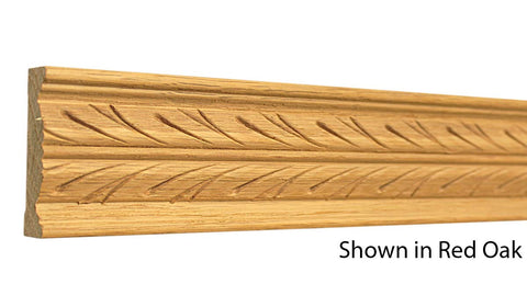"Profile View of Decorative Carved Molding, product number DC-208-020-1-RO - 5/8"" x 2-1/4"" Red Oak Decorative Carved Molding - $9.92/ft sold by American Wood Moldings"