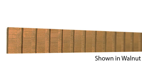 "Profile View of Decorative Dentil Molding, product number DD-100-004-1-WA - 1/8"" x 1"" Walnut Decorative Dentil Molding - $3.60/ft sold by American Wood Moldings"