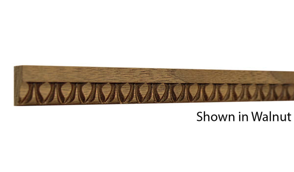 "Profile View of Decorative Embossed Molding, product number DE-024-010-2-WA - 5/16"" x 3/4"" Walnut Decorative Embossed Molding - $2.72/ft sold by American Wood Moldings"