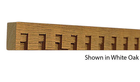"Profile View of Decorative Dentil Molding, product number DD-100-024-2-WO - 3/4"" x 1"" White Oak Decorative Dentil Molding - $2.92/ft sold by American Wood Moldings"