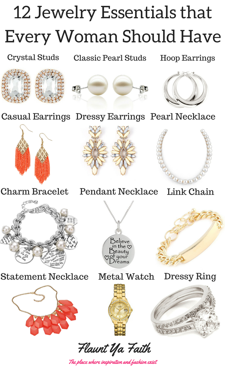 12 Jewelry Essentials for Women