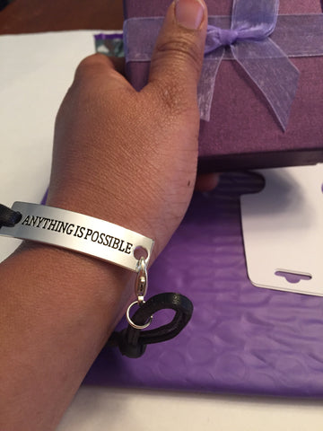 Anything is possible bracelet