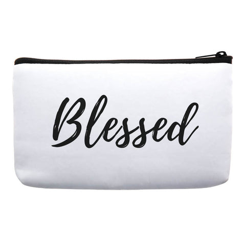 cosmetic bags with sayings-makeup bags with words-makeup bags with quotes-bag with scripture