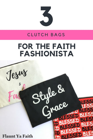 Christian Fashionista-Christian Gifts for College Students-gift ideas using quotes-Cosmetic Bags with sayings