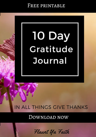 Free 10-Day Gratitude Journal