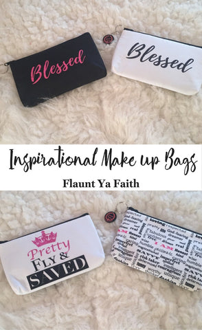 makeup bags with sayings-where can i find makeup bags with quotes