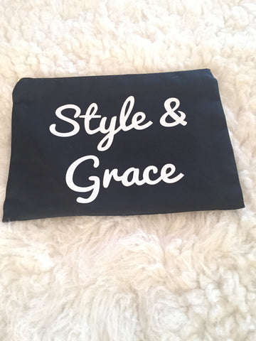 Style and Grace Clutch Bag-Christian Fashionista-Cosmetic Bags with Sayings-Quote Gifts for Friends