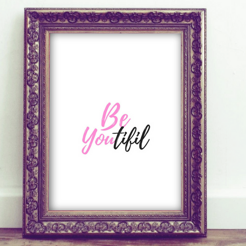 Inspirational Quote Printable, Wall Art Printable, beyoutiful, quote art, inspirational print art