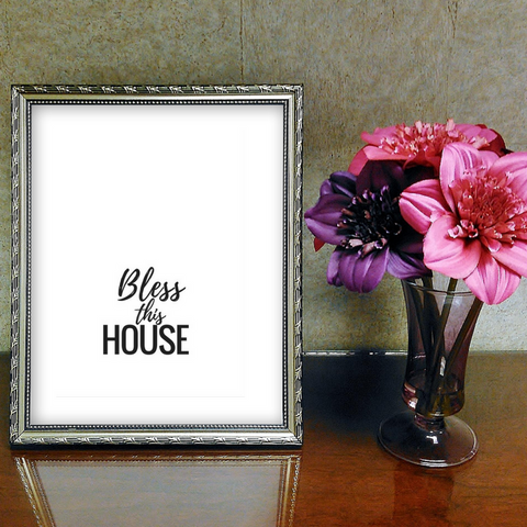 Inspirational Quote Printable, Wall Art Printable, bless this house, quote art, inspirational print art