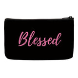 Blessed Bag, Inspirational Accessories, Makeup Bag, Cosmetic Bag, Travel Bag with Words, Travel Bag with Words, makeup bag sayings, makeup bag gift ideas, makeup bag bridesmaid gift, small makeup bags for purses, nylon cosmetic bag, cosmetic bags with sayings, canvas bags with sayings, quote cosmetic bag, toiletry bag for women, christian gifts for women, gift ideas for christian women's conference