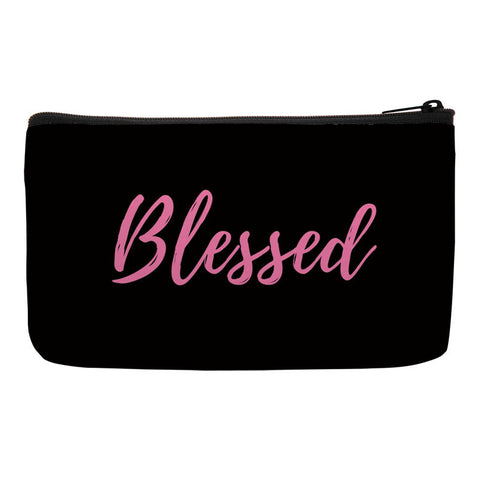 Blessed Bag, Inspirational Accessories, Makeup Bag, Cosmetic Bag, Travel Bag with Words