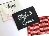 Blessed Bag, Inspirational Accessories, Makeup Bag, Cosmetic Bag, Travel Bag with Words, Clutch Bag, Jesus and Fashion