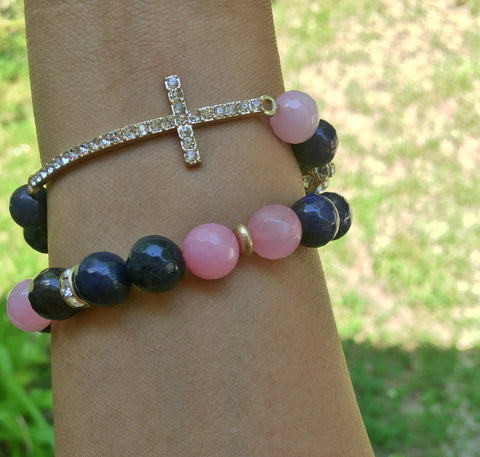 Beaded Cross Bracelet-sideways cross bracelet beads-beaded sideways cross bracelet-beaded sideways cross bracelet pink  Christian Jewelry for girlfriend-christian jewelry for ladies-Christian Jewelry Gifts-christian fashion jewelry