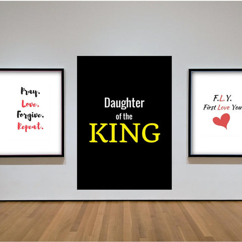 Daughter Of the King Inspirational Quote Printable Wall Art Quote Printable