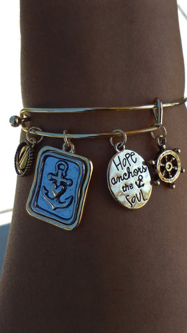 Inspirational Bracelets, Motivational Stack Bracelets, Inspirational Jewelry, Message Bracelets, Quote Jewelry- Flaunt Ya Faith Inspired Jewelry Hope Anchors the Soul, Inspirational quotes bracelets