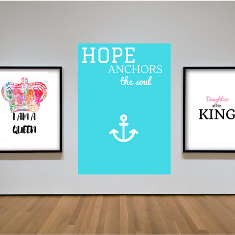 Hope Anchors the Soul Print Wall Art Home Decor Printable Christian Art Graphic Design House Gift