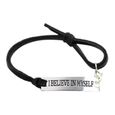 Inspired Jewelry I Believe in Myself Affirmation Bracelet - Flaunt Ya Faith= Inspirational Bracelets, Motivational Stack Bracelets, Inspirational Jewelry, Message Bracelets, Quote Jewelry, Inspired Jewelry