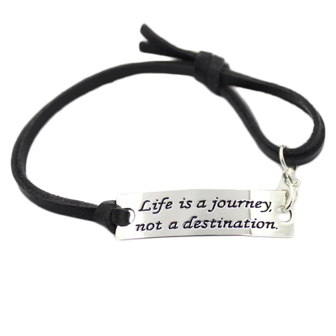 Life is a journey bracelet-Quote Jewelry