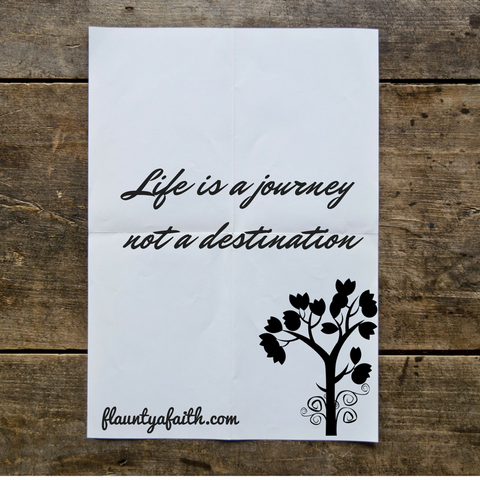 Inspirational Quote Printable, Wall Art Printable, life is a journey not a destination, quote art, inspirational print art
