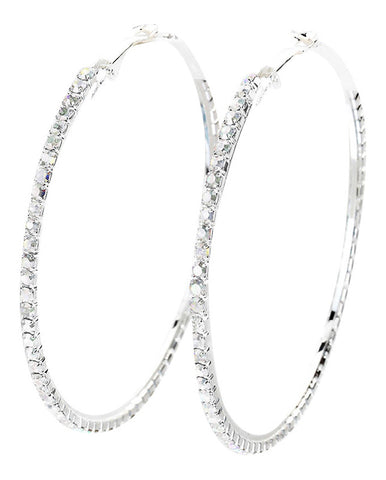 Silver Hoop Earrings - Flaunt Ya Faith - 1