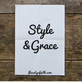 Inspirational Quote Printable, Wall Art Printable Style & Grace