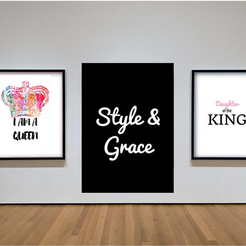 Style & Grace Inspirational Quote Printable Quote Wall Art