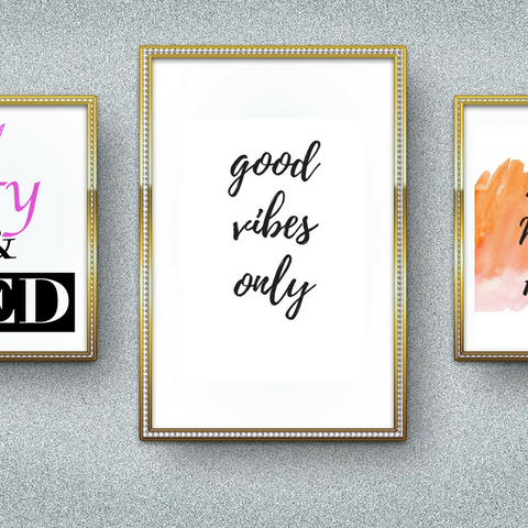 Good Vibes Only Inspirational Quote Printable Wall Art