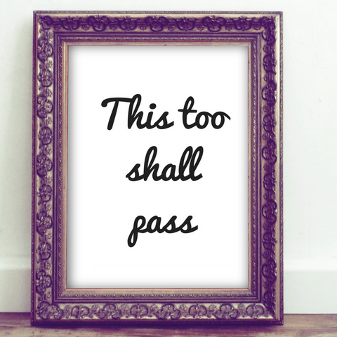 Inspirational Quote Printable, Wall Art Printable, this too shall pass, quote art, inspirational print art