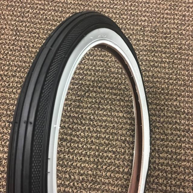 BICYCLE TIRE FITS SCHWINN STINGRAY KRATE RUNABOUT S-7 16 X 1 3/4 WHITE WALL