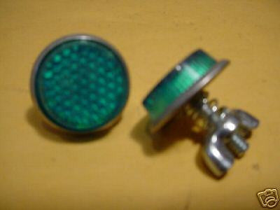 BICYCLE REFLECTORS METAL BACKS  NEVER USED NOS