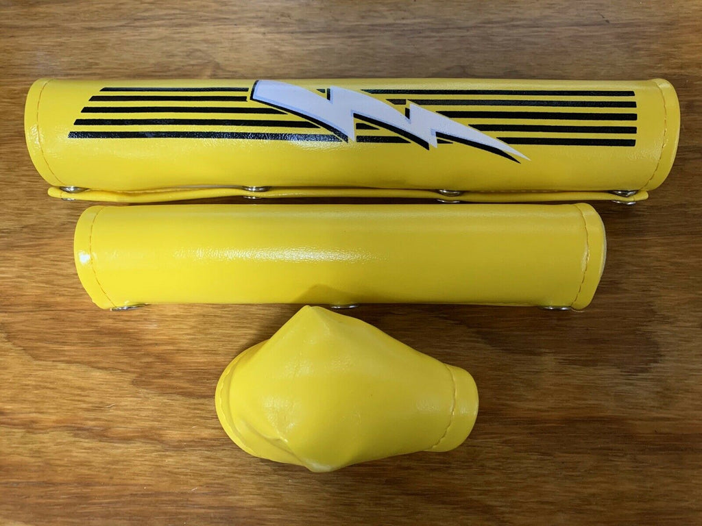 BMX RACING PADS YELLOW OLD SCHOOL NOS VINTAGE